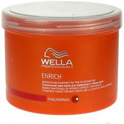 Wella  enrich moisturising - maska nawilżająca do włosów cienkich 500ml, kategoria: odżywianie włosów