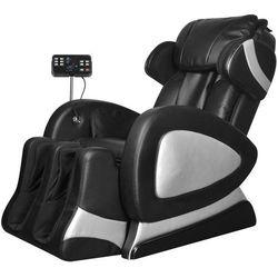 vidaXL Elektryczny fotel do masażu z ekranem, czarna, sztuczna skóra
