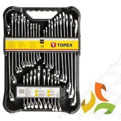 Topex Klucze płasko-oczkowe metryczno-calowe zestaw 32szt. 35d362