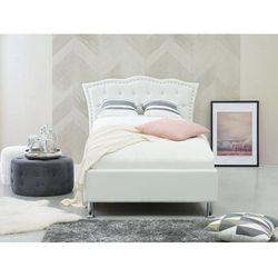 Łóżko białe skóra ekologiczna 90 x 200 cm ze schowkiem METZ