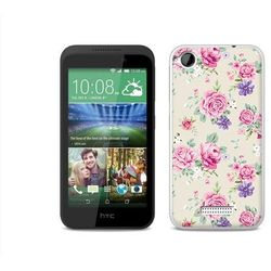 Fantastic case - htc desire 320 - etui na telefon fantastic case - pastelowe różyczki wyprodukowany przez Et