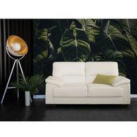 Sofa kremowa - dwuosobowa - kanapa - skóra ekologiczna - VOGAR (7105272156592)