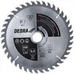 Tarcza do cięcia DEDRA H20040E 200 x 16 mm do drewna HM z kategorii tarcze do cięcia