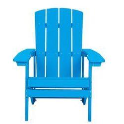 Krzesło ogrodowe niebieskie adirondack marki Beliani