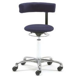 Krzesło aktywne TWIST, obrotowe oparcie, tkanina, niebieski, 234706