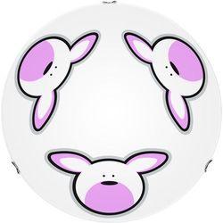 Lampa dla dziecka Królik - Plafon Rubby biały/ chrom LED 15W 40cm (5902166900727)