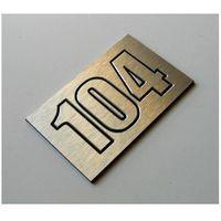 Numer, Numery Grawerowane na Drzwi z aluminium potrójny, 20-01-13