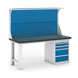 Stół warsztatowy gb z panelem i kontenerem szufladowym, 1800 mm marki B2b partner