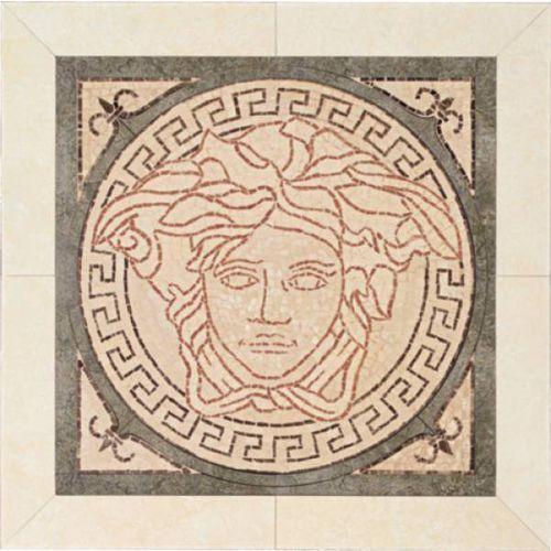 PALACE LIVING Rosoni Medusa in ceramica Rosa/Nero 41x41 (P81) - oferta [3581dea41f8326ff]