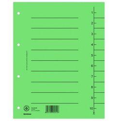 Donau Przekładki , karton, a4, 235x300mm, 1-10, 10 kart, zielone