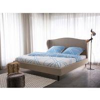 Łóżko beżowe - 140x200 cm - łóżko tapicerowane - stelaż - COLMAR, kolor beżowy