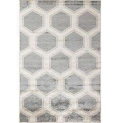 C&m Beżowo szary dywan geometryczny cosmou decor