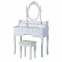 Romantyczna toaletka z lustrem i siedziskiem - Melinda 3X, W-HY-006