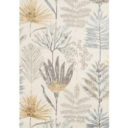 Beżowy dywan z motywem roślinnym yasuni ochre marki C&m