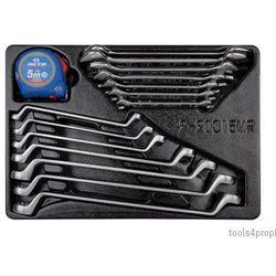 Zestaw kluczy płaskich 8 - 24mm + kluczy oczkowo odgiętych 8 - 24mm + miarka, wkład do wózka 9-90315mr mar