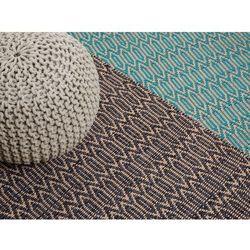 Dywan brązowo-beżowy - 160x230 cm - bawełna - juta - mata - silopi marki Beliani