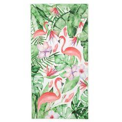 Eurofirany Ręcznik plażowy tropical 80x160 wzór flamingi