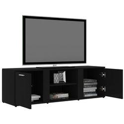 szafka pod tv, czarna, 120x34x37cm, płyta wiórowa marki Vidaxl
