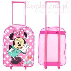 Plecak Myszka Mini walizka na kółkach Minnie Mouse kropeczki, Textiel z REGDOS