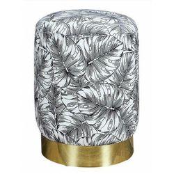 Tapicerowana pufa we wzory złota - senja marki Producent: elior