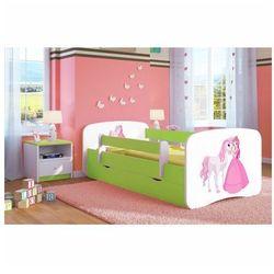 Łóżko dziecięce ze stelażem happy 2x mix 70x140 - zielone marki Producent: elior