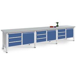 Stół warsztatowy, bardzo szeroki, 3 drzwi, 9 szuflad z częściowym wysunięciem, b marki Unbekannt