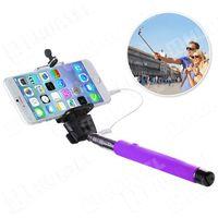 Wysięgnik monopod selfie z przyciskiem i kablem minijack fioletowy, marki Hurtel