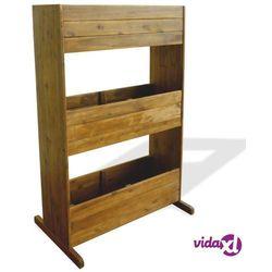 vidaXL Donica ogrodowa, 3-poziomowa, lite drewno akacjowe (8718475582540)