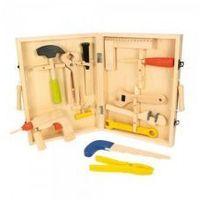 Drewniana skrzynka z narzędziami, BIGJIGS, BJ245