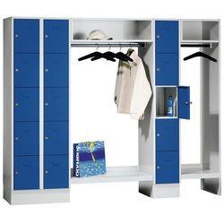 System garderob ze schowkami, 15 przedziałów po lewej stronie / w środku, 15 wie marki Eugen wolf