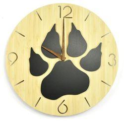 Zegar ścienny - wild i - psia łapa marki Woodwaycrafts