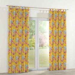 Dekoria Zasłona na szelkach 1 szt., pomarańczowe kwiaty na żółtym tle, 1szt 130x260 cm, New Art