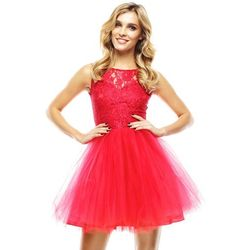 Sukienka Virginia w kolorze czerwonym, sugarfree.pl