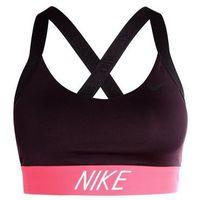 Nike Performance PRO INDY LOGO BACK Biustonosz sportowy port wine/black/siren red, 858583