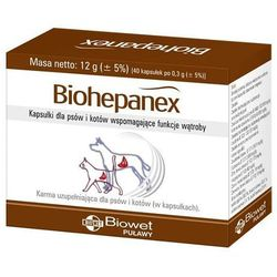 Biowet biohepanex kapsułki dla psów i kotów wspomagające funkcje wątroby 40kaps., marki Biowet puławy