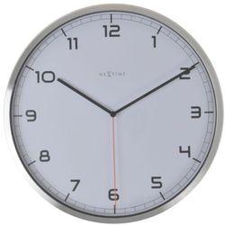 Nextime :: zegar ścienny company biały Ø35cm - biały
