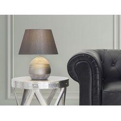 Nowoczesna lampka nocna - lampa stojąca - srebrna - sado marki Beliani