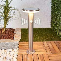 Lampenwelt.com Solarna lampa cokołowa eliano z czujnikiem i led (4251096542523)