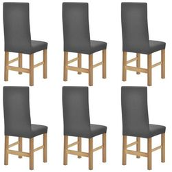 elastyczne pokrowce na krzesła, 6 szt, szare marki Vidaxl