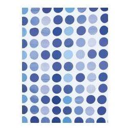 Awd interior zasłonka prysznicowa kółka niebieskie awd02101213