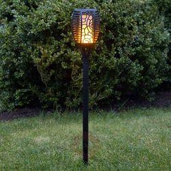 Best season Solarna lampa z grotem ziemnym led flame płomień