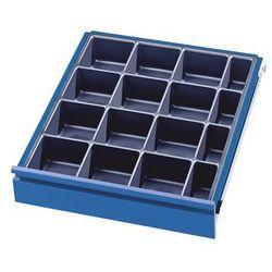 Rau Zestaw przegród do szuflad, 1 wkład na drobne przedmioty z 16 półkami, do szufla