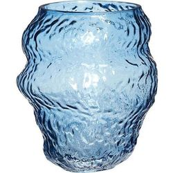 Wazon hübsch 18 cm niebieski szklany (5712772102732)