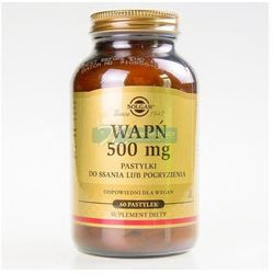 SOLGAR Wapń 500 mg Pastylki d/ssania lub pogryzienia pastyl. - 60 pastyl., postać leku: pastylki