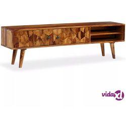 vidaXL Szafka pod telewizor, lite drewno sheesham, 140x30x40 cm (8718475567981)
