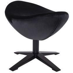 Podnóżek EGG SZEROKI VELVET BLACK czarny.50 - welur, podstawa czarna, kolor czarny