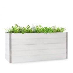 nova grow, podniesiona grządka, 195 x 91 x 100 cm, wpc, imitacja drewna, biała marki Blumfeldt