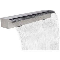 vidaXL Fontanna / Wodospad do basenu Prostokątny ze stali nierdzewnej 90 cm (8718475925880)