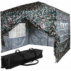 Ekspresowy pawilon namiot ogrodowy 3x3 kolor leśny + 4 ścianki marki Instent ®