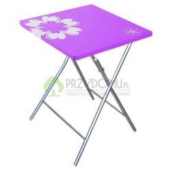 Stół ogrodowy składany 60x60 cm FLOWER fioletowy